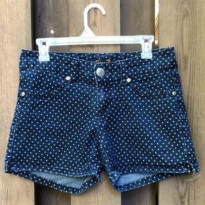 Seven7 Denim Polka Dot Shorts